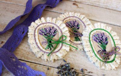 Текстильные броши «Лаванда»